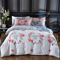 美式全棉纯棉四件套1.5/1.8m床单人双人被套床单被罩套件