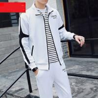 韩版青少年学生帅气连帽卫衣长裤两件套 新款卫衣套装潮流大码运动套装开衫