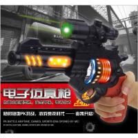电动发光儿童玩具枪声光音乐左轮模型八音手抢