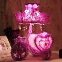 婚庆台灯红色创意结婚礼物婚房台灯红色婚房床头灯新婚房卧室台灯 调光开关