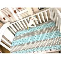 日本购ins纯棉婴儿床单床笠宝宝床围皇冠北欧三件套可定做送