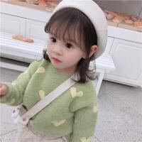 童装秋冬款女童保暖针织衫宝宝毛衣儿童套头上衣