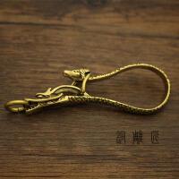 创意手工配件 纯铜黄铜龙马钥匙扣 创意钥匙串汽车钥匙钩创意礼品礼物SN3871