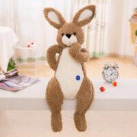 六一儿童节礼物羽绒棉酷兔毛绒玩具出口抱枕公仔玩偶礼品 棕