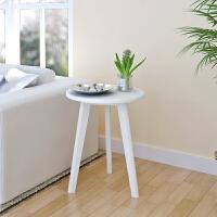 【当当自营】阿栗坞 韩式小圆桌 边几 角几 桌子 茶几 白色 1041