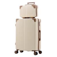 韩版行李箱女小清新皮箱拉杆箱万向轮20寸大学生子母箱可爱旅行箱 玫瑰金 子母箱