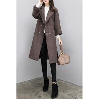 毛呢大衣女中长款秋冬新款气质加厚过膝显瘦呢子大衣外套
