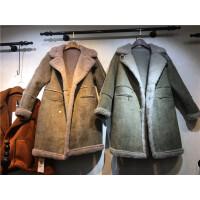 K6麂皮�q羊羔毛外套女中�L款冬季新��松�@瘦加厚保暖棉衣1.35