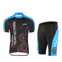 夏季短袖骑行服骑行上衣骑行裤 自行车骑行服装透气 速干骑行服套装男