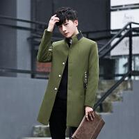 男士毛呢大衣中长款韩版修身潮流青年帅气呢子外套时尚休闲上衣妮