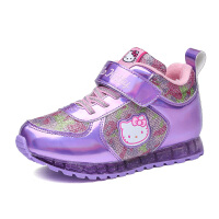 hellokitty童鞋女童棉鞋冬季新款运动鞋加绒加厚儿童休闲鞋潮K6450DD902