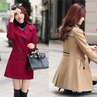 四十少妇年轻妈妈毛呢外套女冬季韩版气质中长款大码茧型呢子大衣