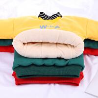 儿童冬装女童卫衣加绒男童保暖上衣婴儿衣服