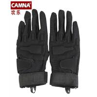 骑行手套战术手套户外登山攀岩速降爬山防滑手套耐磨全指手套 黑色