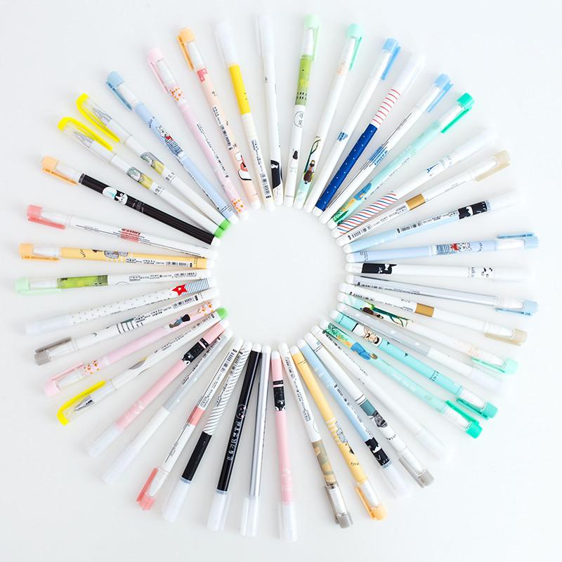 【年末感恩回馈 5折包邮】乌龟先森 中性笔 50支中性笔套装0.38/0.5mm签字笔黑笔学生用文具用品水性笔【支持礼品卡支付】