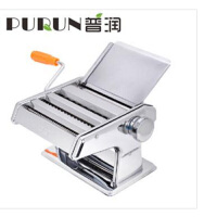 普润 三刀压面机 家用不锈钢面条机 饺子皮机 3刀圆面压面机