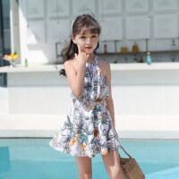 儿童泳衣女连体裙式游泳衣公主小童女孩宝宝中大童学生亲子泳装女