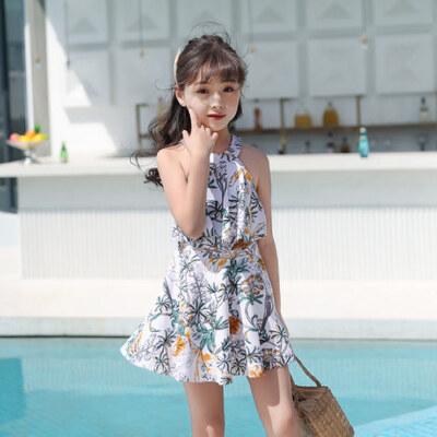 儿童泳衣女连体裙式游泳衣公主小童女孩宝宝中大童学生亲子泳装女 品质保证 售后无忧