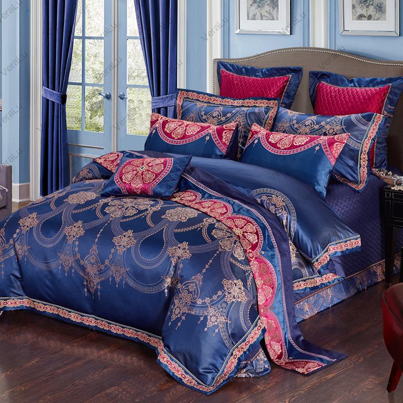 家纺酒店床上用品全棉四六十件套大提花贡缎1.8米双人床上被套