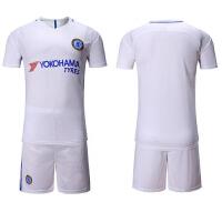 18足球服 比赛训练服运动服切尔西主场客场球衣T恤儿童足球服8号奥斯卡10号阿扎尔球衣套装 切尔西客场
