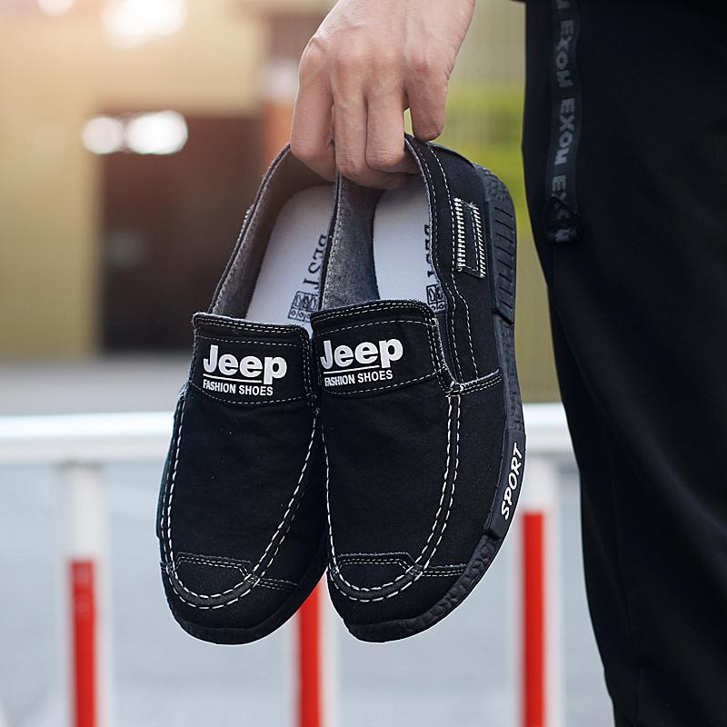 2018春夏季潮鞋男士休闲鞋透气低帮帆布鞋百搭英伦男鞋韩版男式板鞋子