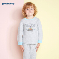 【3件9折】歌瑞家儿童内衣厚三保暖圆领长袖上衣2017冬装新款男童上衣 乐友