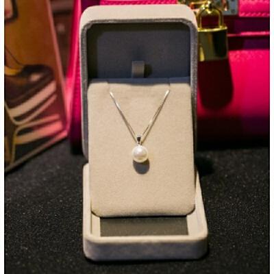 s925项链 珍珠吊坠锁骨链女细银链女士日韩简约银饰品送妈妈 发货周期:一般在付款后2-90天左右发货,具体发货时间请以与客服协商的时间为准