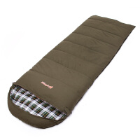 加长型露营信封式睡袋户外 春秋冬季办公室内学生 羽绒棉带帽