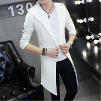 韩观春季中长款风衣男士青少年韩版修身冬季外套学生男帅气个性潮流衣