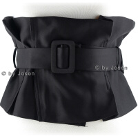 JOSEN BELT-韩版新款时尚布料女士衬衫装饰宽腰封 腰带 黑色 西服料(M码/60-73)