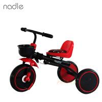 Nadle儿童脚踏车三轮车 可折叠免安装 宝宝三轮车婴幼儿自行车 免充气轮