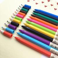 晨光本味签字笔12色彩色中性笔0.35创意水笔多色笔全针管0.38