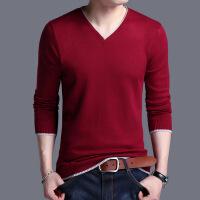2017秋冬男式毛衣纯色长袖V领薄款男士针织衫休闲青年男式毛衫