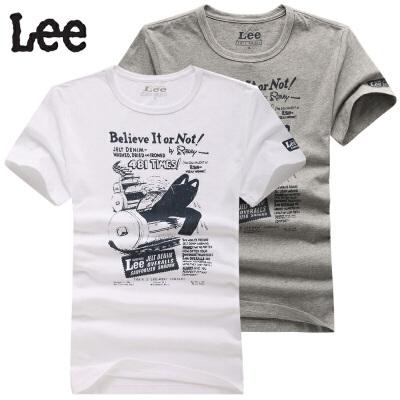 Lee 短袖男T恤 电池图印花夏季 8784-5Y1A 8784-5Y8R