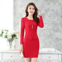 秋季长袖修身连衣裙年新款韩版30-35-40岁中年女士气质包臀裙