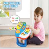 男孩音乐礼包组合 宝宝玩具6-12个月婴幼儿手拍鼓音乐琴 手摇铃玩具 早教益智玩具 音乐组合(DG5202)