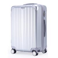 韩版小清新行李箱女迷你皮箱18寸拉杆箱24旅行箱包学生密码箱子男 银色 镜面款登机箱