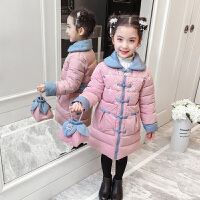 女童唐装冬季中国风汉服棉衣中大儿童复古装中长款外套拜年服