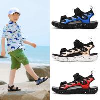 男童凉鞋夏季新款中大童露趾学生软底防滑男孩儿童沙滩鞋中大小童运动鞋子DW-2133