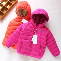 女童棉衣手塞棉2017新款冬装宝宝两面穿羽绒加厚保暖外套棉袄