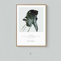 翡翠绿ins风宝丽来清新花卉植物摄影现代简约客餐厅装饰画
