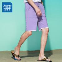 真维斯男装 2021夏装新款 小毛圈宽松型短裤