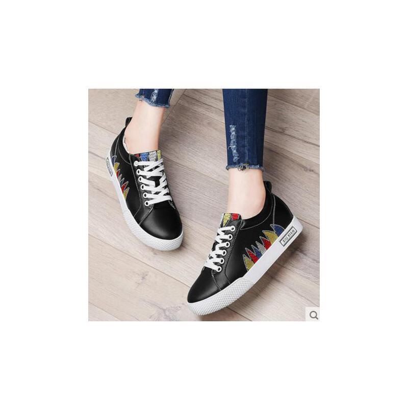 古奇天伦新款百搭韩版春季女鞋子潮板鞋学生平底单鞋内增高小白鞋街拍FHE8707 品质保证 货到付款