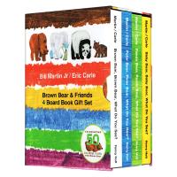 赠音频 棕熊四册盒装 Brown Bear what do you see 英文原版绘本 儿童英语早教启蒙纸板书 Eri