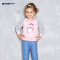 歌瑞家婴儿套头卫衣2017冬装新款女小童宝宝长袖上衣婴儿衣服乐友