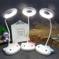 可爱KT猫台灯卡通凯蒂猫USB充电触摸调光卧室床头暖光学习小台灯