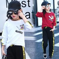 女童运动套装12儿童休闲长袖11中大童时尚两件套