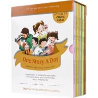 【首页抢券300-100】One Story A Day 一天一个故事 初中版 儿童英语读物 加拿大青少年课外读物 英文