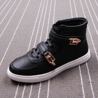夏季白色高帮男鞋青年韩版潮流运动休闲鞋透气中邦板鞋皮靴马丁靴