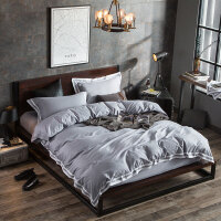 家�床上四件套全棉�棉�紊�被套200X230床�魏��s��性潮牌1.5m/1.8米 灰色 �C生